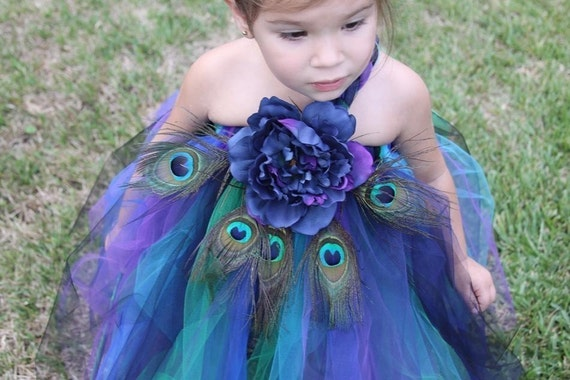 Peacock Tutu - great for pictures