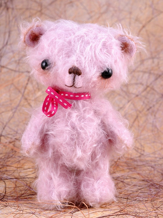 Lucille, a OOAK Jointed Mohair Anime Bear.