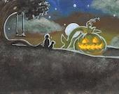 Great Pumpkin ACEO - Original acrylic painting