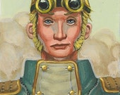 Victorian\/Steampunk ACEO- Original acrylic painting