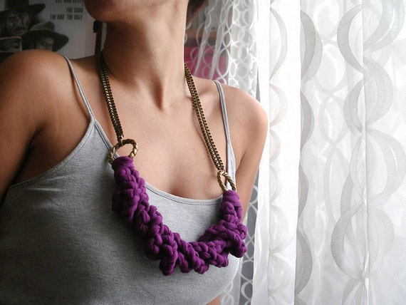 Necklace in Purple Braid