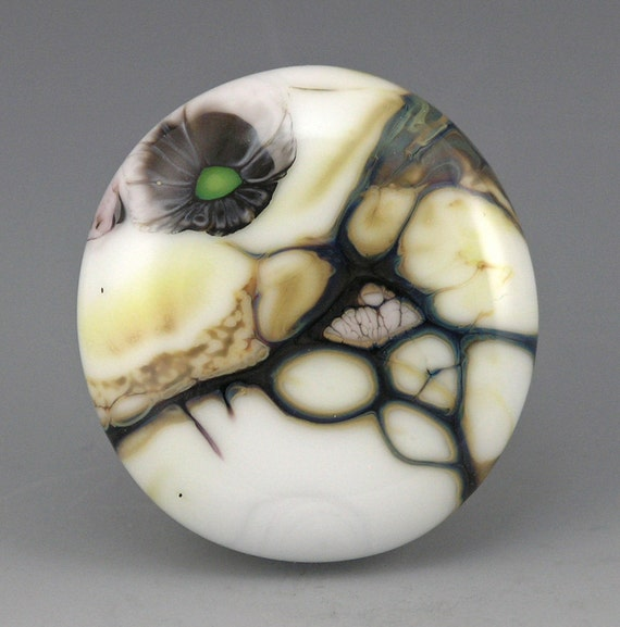 Almost Home.....glass organic CABOCHON designers cabs for jewelry SRA