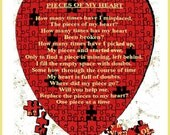 Pieces of my heart (card)