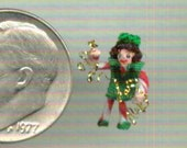 Christmas Elf - 1/144th scale (or ornament or toy in 1/12th scale)