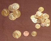 DESTASH gold roman coins gypsy coins large and medium 40 pieces