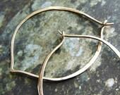 Lotus Hoop earrings, Silver Hoop Earrings, hammered hoops, lotus petal hoops, simple everyday earrings