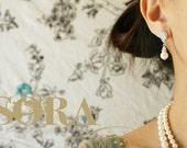 Bridal Jewelry Wedding Earrings Clear Cubic Zirconia Teardrop Earrings Bridal Earrings Wedding Jewelry