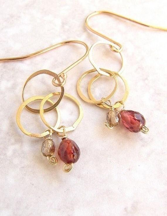 crimson stone earrings, bridesmaid jewelry, garnet custom birthstone earrings bridal party wedding jewelry bridesmaid earrings