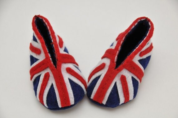 British Flag Baby Booties 0-3 months