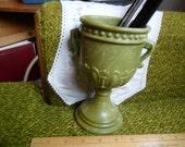 Vintage NARCO F100 Olive Swirl Goblet