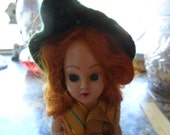 Antique 1948 Duchess Doll - Red hair and shamrock dress