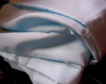 "Vintage Light blue polyester Fabric 2 yard length x 44"" width"