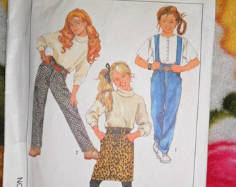 Vintage 1988 Simplicity Pattern 8879 - size 12 - Loose fitting pants and skirt