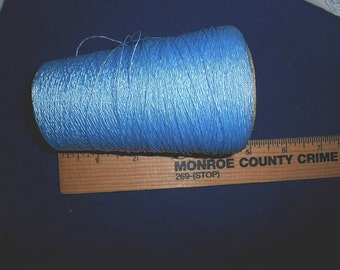 Vintage Spool of Shimmery light blue embroidery thread
