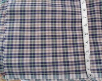 "Vintage Plaid fabric - 76"" length x 62"" width"