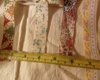 Offray ribbon trims - 4 assorted types - approx 13 yards total