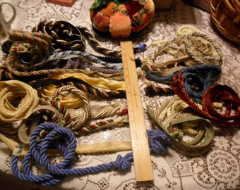 Large Group of Assorted Piping - Assorted styles colors and lengths - 11 are Over 1 yard