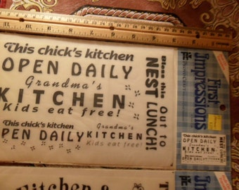 First Impressions Rub-On Transfers for your Kitchen - 2 packages