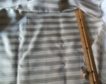 "Sale - Vintage Striped Polyester Fabric - 95"" long x 45"" wide"
