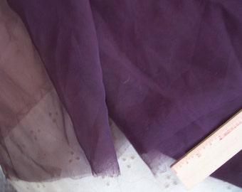 "Vintage Burgandy Wine Sheer fabric 82"" length x 44"" width"