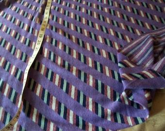 "Purple w/diagonal stripe pattern Stretch Fabric 1 yard  length x 68"" Circumference"