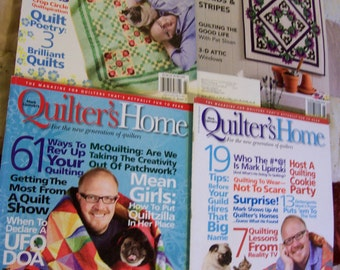 4 Quilting Magazines - titled Mark Lipinskis Quilter's Home x 3 and Quilter's world x 1