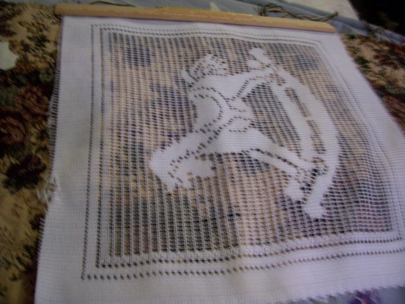 Lace Fabric squares - Rocking horse - geese - bird