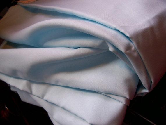"Vintage Light blue polyester Fabric 2 yard length x 44"" width"
