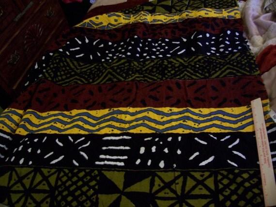 "Vintage Retro Large stripe Safara pattern fabric 65"" long x 43"" width"