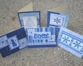 Christmas Cards - Set of 5 - Blue Winter Wonderland