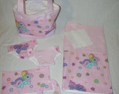 Bitty Baby Basics in My Little Pony- Diaper Bag and Diapers with Blanket