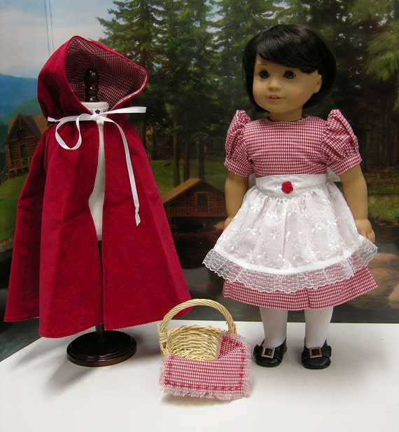 Little Red Riding Hood costume for American Girl doll