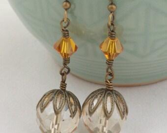 Elegant Champagne Earrings