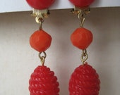 Orange and Red Cool Dangle - earrings