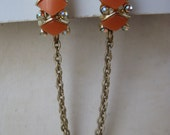 Cool Orange and AB - vintage sweater clip