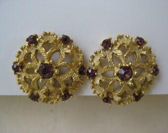 Golden Violet - earrings