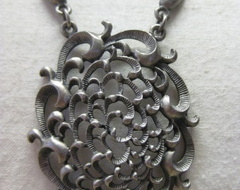 Pewter Filigree - necklace