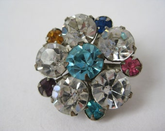 Color and Twinkle Flower - vintage pin