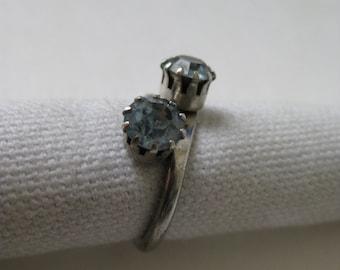 2 Blue Sparkle - vintage ring - adjustable