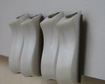 White Wave - vintage earrings