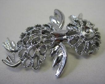 Bird Brooch Silver Filigree Vintage Pin