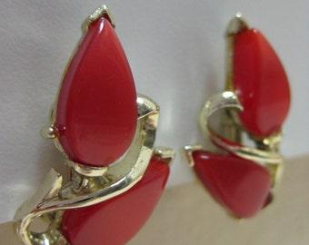 Red Leaves - earrings