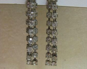 Tri Sparkle Bling Dangle - earrings
