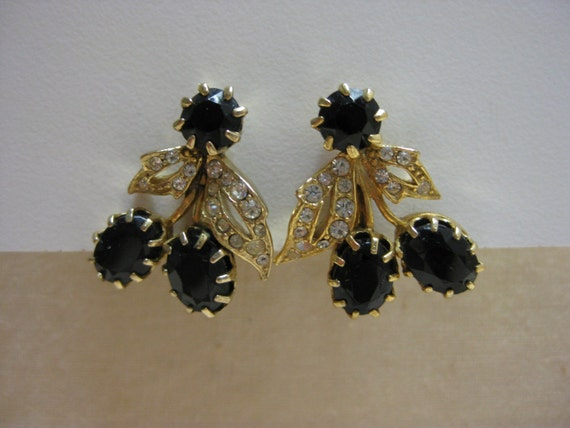 Black Gold with a Twinkle - earrings