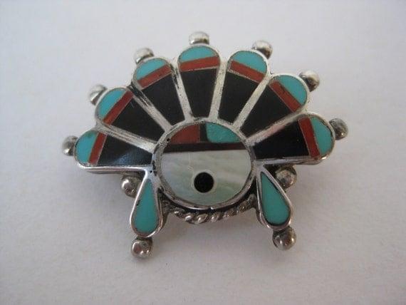 Sun God - vintage brooch