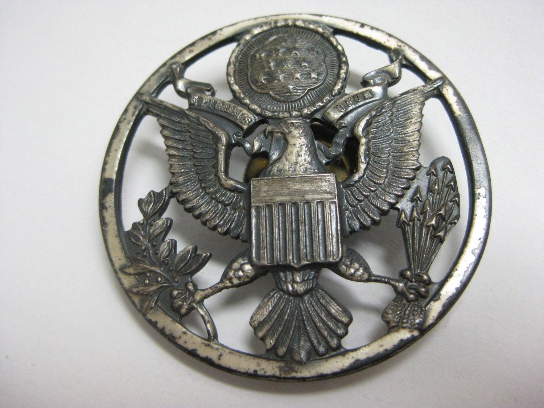 US Military Eagle Emblem vintage pin
