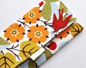 FALL BIRD WALLET /// Women's Checkbook Wallet, Women's Wallet, Bird, Fall, Red Wallet, Oklahoma