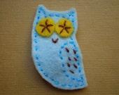 Blue Owl - Felt Hair Clip