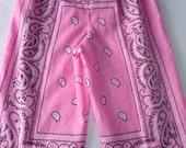 Kids - Pink Bandana Lounge Pants- Size 3T