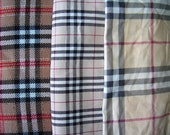 Custom Order for Valerie - Kids - London Plaid Cotton and Fleece Baby Blanket